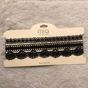 THREE different black lace chokers